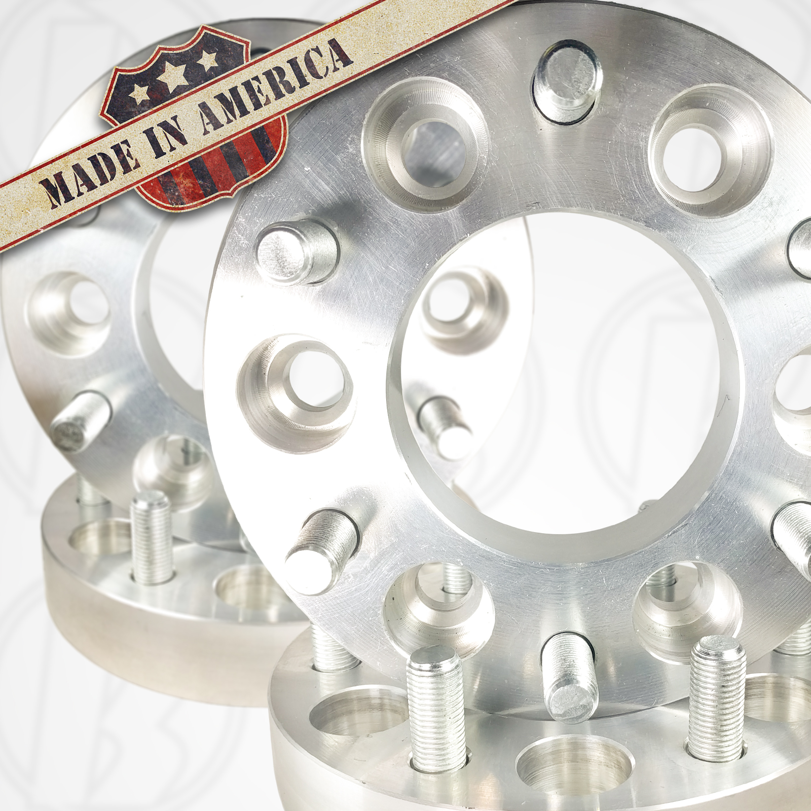"6x5 Buick To 6x115 Cadillac Wheel Adapters / 1.25"" Spacers"