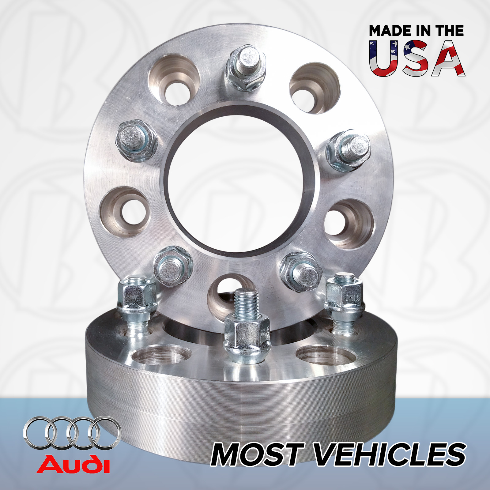 "5x112 Audi To 5x100 Wheel Adapters / 1"" Spacers"