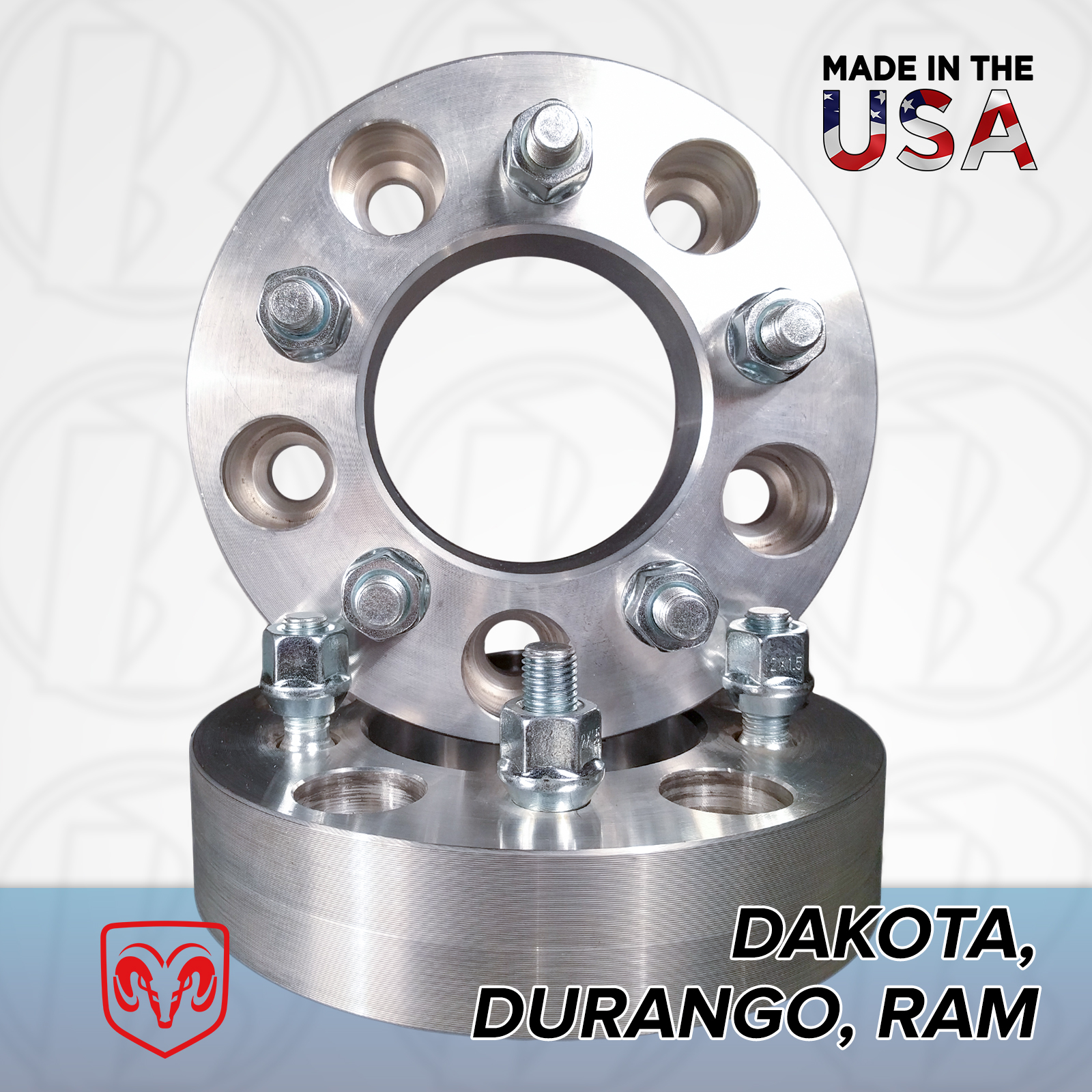 "5x5.5 Dodge To 5x5 Wheel Adapters / 1"" Spacers"