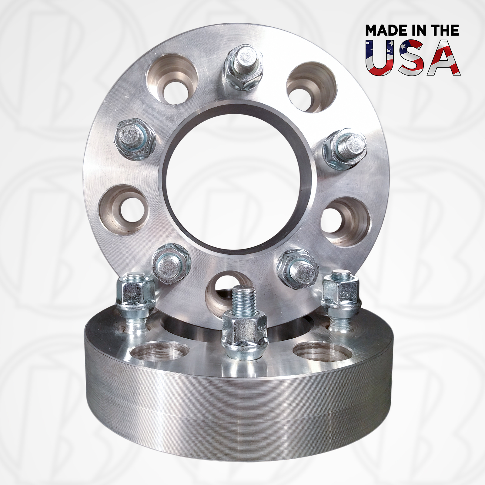 "Set of Two 5 x 5.5"" To 5 x 5"" Wheel Adapters / 1.5"" Spacers"